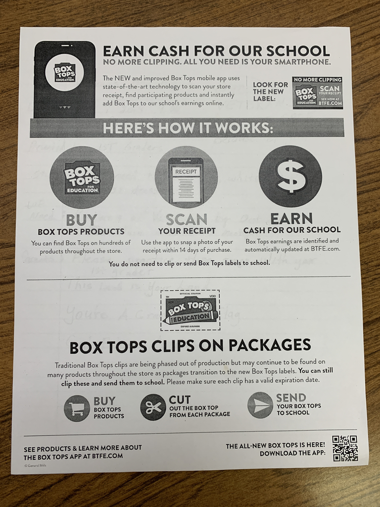 New Box Tops for Education Program!